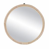SAM - miroir - rotin / verre miroir - DIA 72 x W 3 cm - naturel