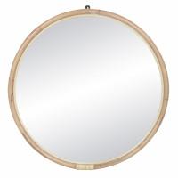 SAM - miroir - rotin / verre miroir - DIA 86 x W 3 cm - naturel