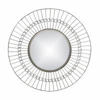 FINESSE - miroir - fer / verre miroir - DIA 80 x W 2 cm - Nickel
