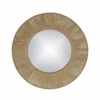 FINESSE - spiegel - spiegel / touw - DIA 50 x W 2 cm - naturel
