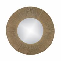 FINESSE - miroir - miroir / corde - DIA 80 x W 2 cm - naturel