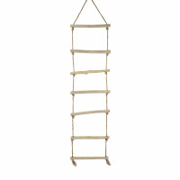 INSULA - rope ladder - teak / rope - L 48 x W 4 x H 200 cm - natural
