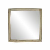 INSULA - spiegel - teak - L 40 x W 5 x H 40 cm - naturel