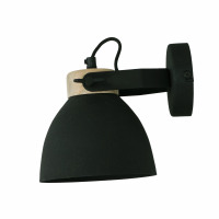 GALAXIE - wall lamp - iron / mango - L 16 x W 21 x H 17 cm - black