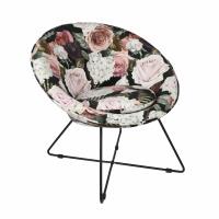 GARBO - relax chair - velvet / iron - L 75 x W 67 x H 73 cm - multicolor