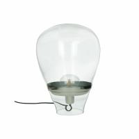 BULLIA - floor lamp - glass / metal - DIA 28 x H 35 cm - clear