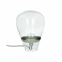 BULLIA - staanlamp - glas / metaal - DIA 28 x H 35 cm - transparant
