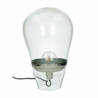 BULLIA - staanlamp - glas / metaal - DIA 33 x H 47 cm - transparant