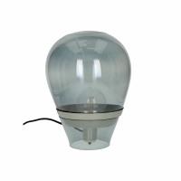 BULLIA - staanlamp - glas / metaal - DIA 28 x H 35 cm - smoke