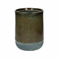 BRANSA - bloempot - aardewerk - DIA 15 x H 20 cm - bruin
