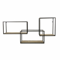 ESSENTIAL - wall rack - iron / fir - L 100 x W 22 x H 50 cm - natural