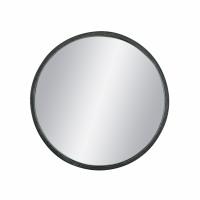 KARO - miroir - fer / verre miroir - DIA 45 x H 5 cm - noir