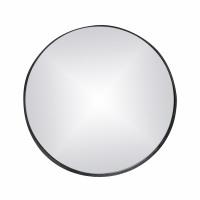KARO - miroir - fer / verre miroir - DIA 65 x H 5 cm - noir