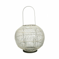 BULLE - lanterne - rotin / fer - DIA 40 x H 56 cm