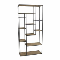 ESSENTIAL - rack - iron / fir - L 80 x W 30 x H 170 cm