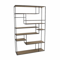ESSENTIAL - rack - iron / fir - L 110 x W 30 x H 170 cm