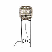 QUINTA - floorlamp - bamboo / metal - DIA 33 x H 122 cm