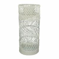 BULLE - porte-parapluie - rotin - DIA 26 x H 60,5 cm - blanc