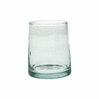 MIRA - water glas - glas - L 6,3 x W 6,3 x H 9 cm - transparant