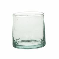 MIRA - water glas - glas - L 6,5 x W 6,5 x H 6,5 cm - transparant