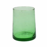MIRA - water glass - glass - L 6,3 x W 6,3 x H 9 cm - green