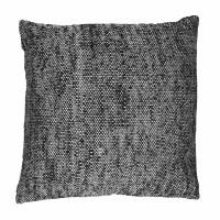 SHIKHA - coussin - lin / viscose - L 45 x W 45 cm - noir
