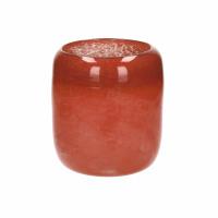 TERRA - vase - verre - DIA 17,5 x H 22 cm - rouge