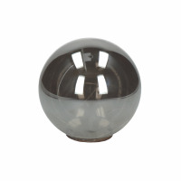 GLITTER - bol met sfeerverlichting - batterij - glas - DIA 12 cm - smoke
