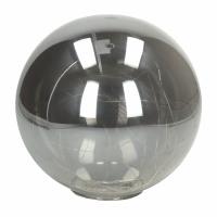 GLITTER - bol met sfeerverlichting - batterij - glas - DIA 20 cm - smoke