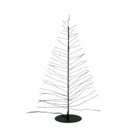 GLITTER - kerstboom 120 leds - transfo m/timer - metaal - DIA 12 x H 45 cm - zwart