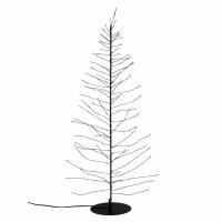 GLITTER - kerstboom 160 leds - transfo m/timer - metaal - DIA 12 x H 60 cm - zwart