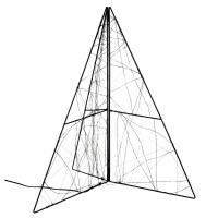 GLITTER - kerstboom leds - transfo m/timer - metaal - L 40 x W 40 x H 50 cm - zwart