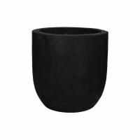 PURE - pot - paulownia hout - DIA 27 x H 26 cm - noir