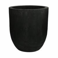 PURE - pot - paulownia hout - DIA 32 x H 34 cm - noir