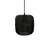 SHIARAN - hanglamp - metaal - DIA 15 x H 15 cm - antiek zwart