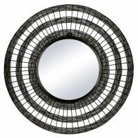 SHIARAN - spiegel - metaal - DIA 70 x W 4 cm - antiek zwart
