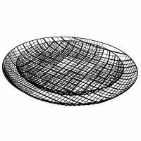 PATRONA - set/2 schalen - ijzer - DIA 41/51 x H 4,5/4,5 cm - zwart