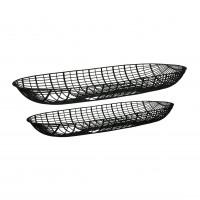 PATRONA - set/2 schalen - ijzer - L 50/57 x W 17/20 x H 5/5 cm - zwart