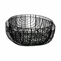 PATRONA - set/2 schalen - ijzer - DIA 28,5/33 x H 13/11 cm - zwart