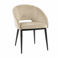 SYRAH - chair - velours / metal - L 59,5 x W 55 x H 79 cm - beige