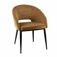 SYRAH - chair - velours / metal - L 59,5 x W 55 x H 79 cm - caramel
