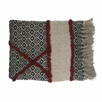 NOMAD - throw  - cotton - L 170 x W 130 cm - red