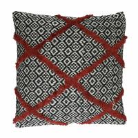NOMAD - coussin - coton - L 45 x W 45 cm - rouge