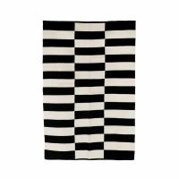 ZITA - tapijt - katoen - L 180 x W 120 cm - zwart/wit