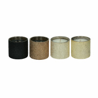 SPARKLE - set/4 scented candles - glass / wax - DIA 5,5 x H 5,5 cm - mix of colours