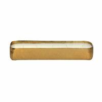 PACIFY - kaars - aluminium / wax - L 30 x W 7 x H 5 cm - goud