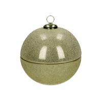 SPARKLE - kaars - glas / wax - DIA 13 x H 13 cm - goud