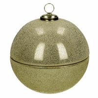 SPARKLE - kaars - glas / wax - DIA 23 x H 23 cm - goud