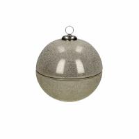 SPARKLE - kaars - glas / wax - DIA 9 x H 9 cm - zilver