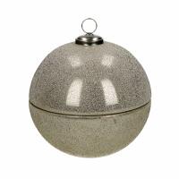 SPARKLE - kaars - glas / wax - DIA 18 x H 18 cm - zilver